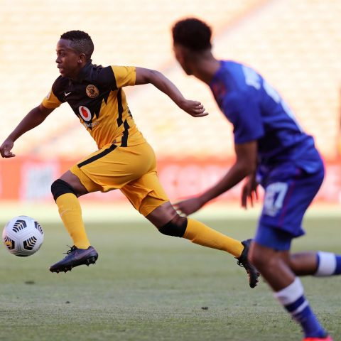 Nkosingiphile Ngcobo in action against SuperSport United